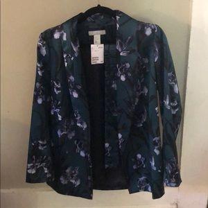 Green floral blazer